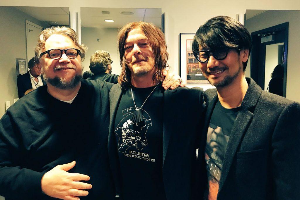 Guillermo del Toro, Norman Reedus et Hideo Kojima, le 7 décembre 2017