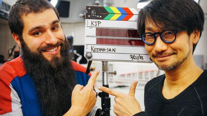 Jordan Vogt-Roberts et Hideo Kojima sur le tournage de Death Stranding, le 23 février 2018