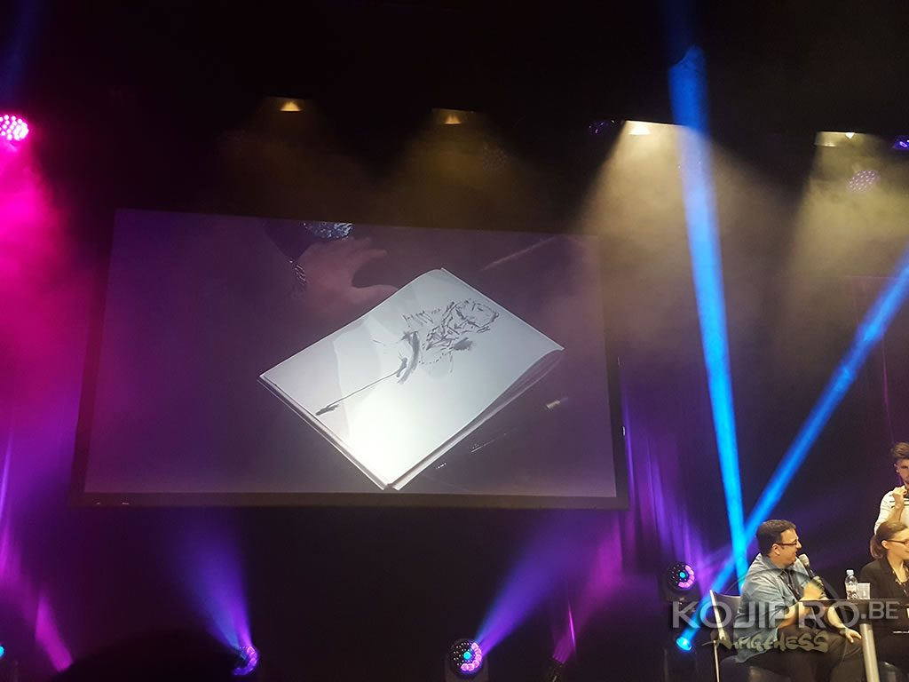 Revolver Ocelot dessiné par Yoji Shinkawa au MAGIC 2018, le 24 février 2018