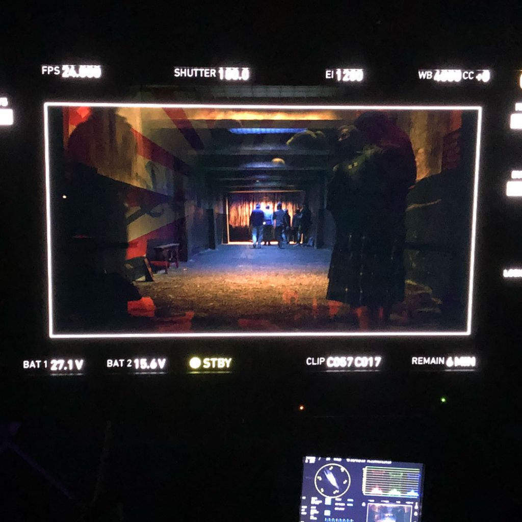 Tournage de « Too Old To Die Young », le 22 février 2018