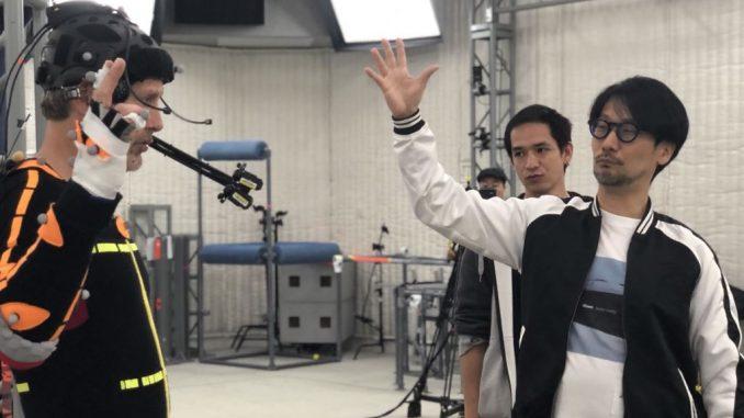 Mads Mikkelsen, Jorge Ken Hashimoto et Hideo Kojima - Performance capture de Death Stranding, le 12 avril 2018